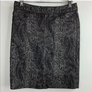 GAP Faux Snakeskin Skirt